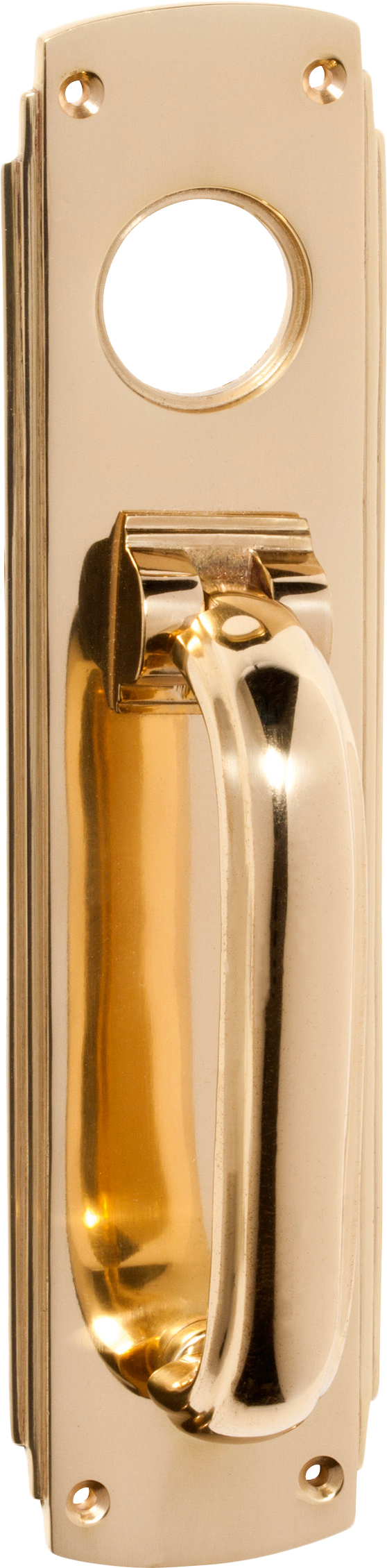 Sopersmac | Door Hardware | Door Accessories | Door Knockers And Bells |  Tradco Deco Pull Handle/Knocker   Cylinder Hole